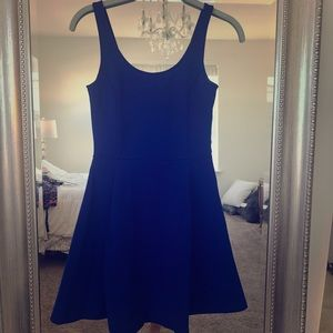 H&M Vibrant Blue Fit and Flare Dress